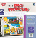 Memory Book 12\u0022x12\u0022 Top-loading Page Protectors-25PK