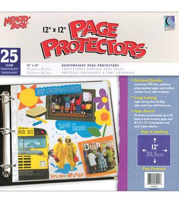 "Memory Book 12""x12"" Top-loading Page Protectors-25PK"