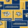 Nashville Predators Fleece Fabric -Block