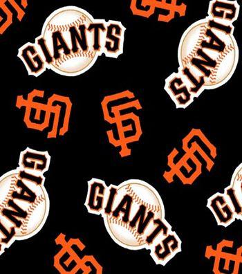 San Francisco Giants Fleece Fabric -Tossed