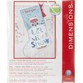 Dimensions Stocking Cross Stitch Kit 16\u0022 Long-Holiday Home