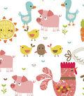 Snuggle Flannel Fabric -Happy Farm Animals