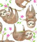 Snuggle Flannel Fabric 43\u0027\u0027-Sloths