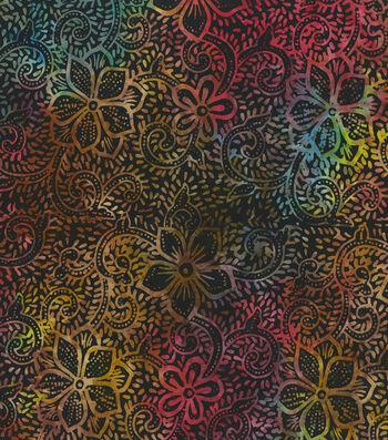 "Legacy Studio™ Indonesian Batiks Cotton Fabric 44""-Rainbow Florals"