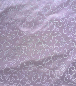 Glitterbug Fabric-Satin Print Lavender