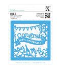 Xcut Decorative Die-Congratulations Topper