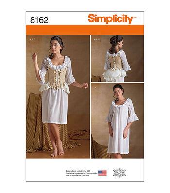 Simplicity Pattern 8162 Misses' Undergarments-Size R5 (14-16-18-20-22)
