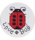 Janlynn 2-1/2\u0022 Counted Cross Stitch-Love Bug