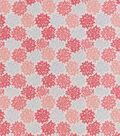Snuggle Flannel Fabric-Coral Gray Burst