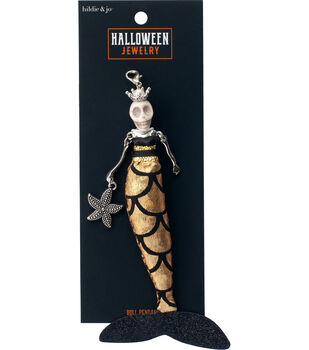 hildie & jo Halloween Doll Pendant-Day of the Dead Mermaid Delphine