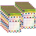 Colorful Paw Prints Incentive Charts, 36 Per Pack, 12 Packs