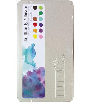 Nuvo 12 pk Watercolor Pencils-Brilliantly Vibrant