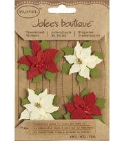 Jolee's Boutique Christmas Stickers-Poinsettias, , hi-res