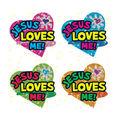 Carson Dellosa Dazzle Stickers Jesus Love Me, 120 Per Pack, 12 Packs