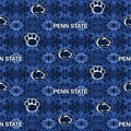 Penn State University Nittany Lions Flannel Fabric-Tie Dye