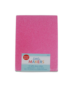 Little Makers 6X9'' Value Pack Glitter Adhesive-Multi Color