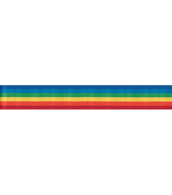 "7/8"" Rainbow Stripe Ribbon"