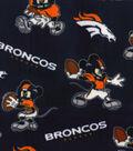 Denver Broncos Fleece Fabric-Mickey