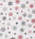 Christmas Cotton Fabric 43\u0022-Snowflake Sheet Music