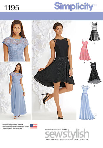 Simplicity Pattern 1195D5 4-6-8-10-1-Special Occasion