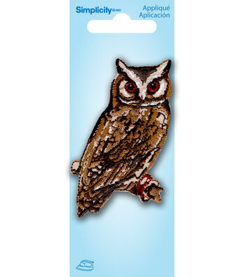 Simplicity Iron-On Applique-Owl On Branch