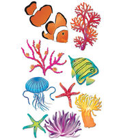 Jolee's Boutique Le Grande Dimensional Sticker-Sea Anemone, , hi-res