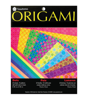 """Fold 'Ems Origami Paper 5.875"""" 20/Pkg- Dots with Pearlescent Colors"""