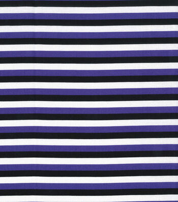 "Halloween Cotton Fabric 43""-Halloween Stripe Purple"