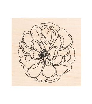 American Crafts Wooden Stamp Flower