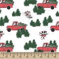 Disney Mickey & Minnie Cotton Fabric-Christmas Tree