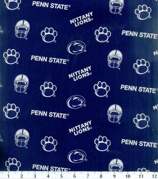 Penn State University Nittany Lions Cotton Fabric -All Over