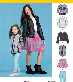 Simplicity Patterns Us8027Hh-Simplicity Child'S And Girls' Sportswear Pattern-3-4-5-6