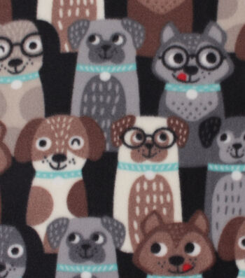 "Blizzard Fleece Fabric 59""-Happy Pups"
