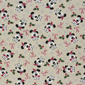 Christmas Cotton Fabric-I Woof You Holiday Cream Glitter