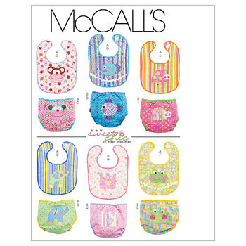 McCall's Pattern M6108 Bibs & Diaper Covers