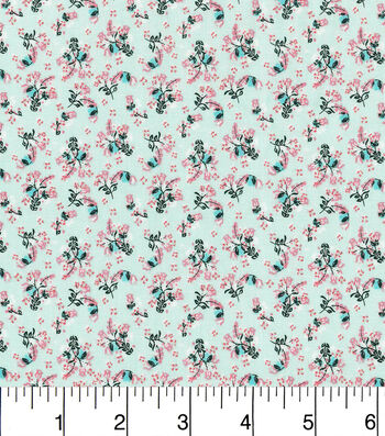 "Keepsake Calico™ Cotton Fabric 43""-Floral Mint"