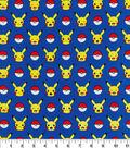 Pokemon Cotton Fabric 44\u0022-Pikachu And Ball