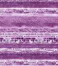 Keepsake Calico Cotton Fabric-Tie Dye Stripe Purple