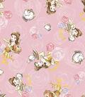 Disney Beauty & The Beast Flannel Fabric -Friends Toss