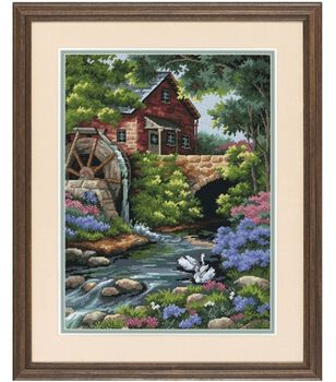Dimensions Needlepoint Kit Old Mill Cottage