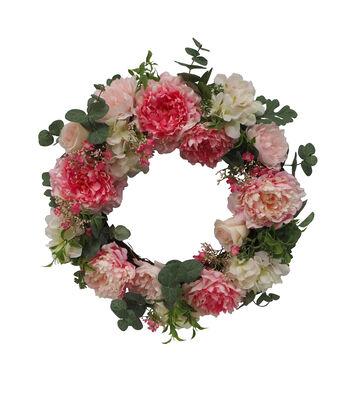 Fresh Picked Spring 24'' Peony & Hydrangea Wreath