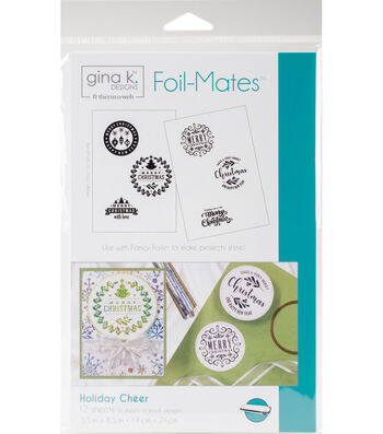 Gina K. Designs 12 pk 5.5''x8.5'' Background Foil-Mates-Holiday Cheer