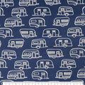 Soft & Minky Fleece Fabric-Navy Camper