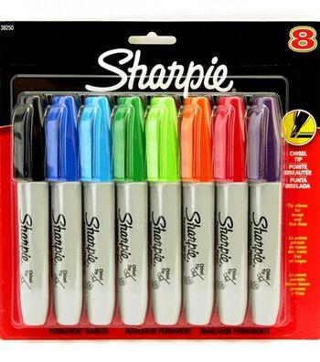 Sanford Sharpie Chisel Tip Assortment 8Pk-5.3mm Tip