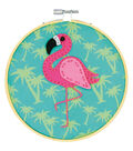 Dimensions Learn-A-Craft Felt Applique Stitch Kit-Flamingo