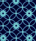 Snuggle Flannel Fabric -Blue Depths Linked Circles