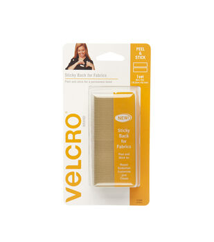 VELCRO Brand Sticky Back for Fabrics, 6in x 4in tape, beige