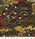 Asian Inspired Cotton Fabric 44\u0022-Asian City Walk Metallic