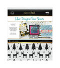 Deco Foil Clear Toner Sheets 8.5\u0022X11\u0022 4/Pkg-Rustic Winter