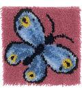Wonderart Latch Hook Kit 12\u0022X12\u0022-Butterfly